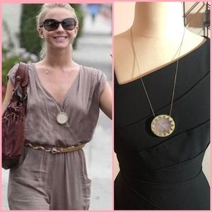 House of Harlow 1960 Jewelry - House of Harlow Rose Quartz Sunburst Necklace
